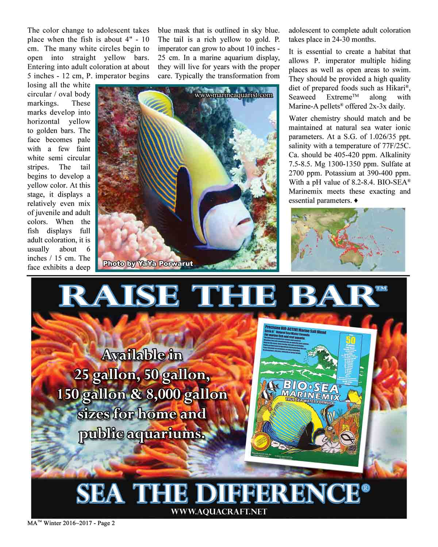 Marine Aquarist®Winter 2016~2017   Aqua Craft Products