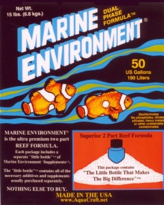 MARINE ENVIRONMENT® dual phase formula™ for 25 Gallon Tank (6 Pack)
